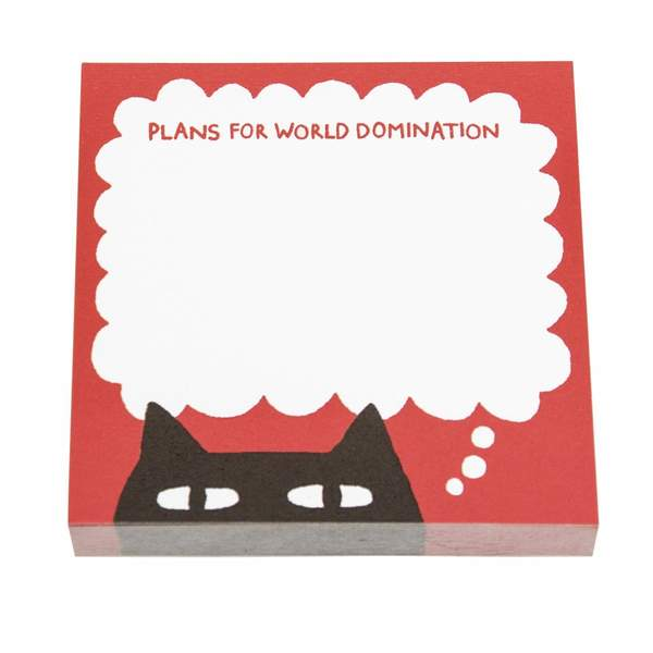 Plans For World Domination Sticky Notes