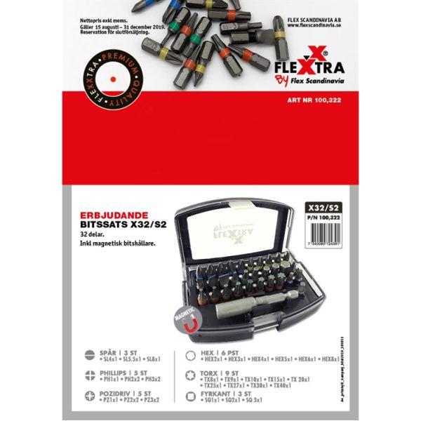 Flexxtra 100322 Bitssett 32 deler