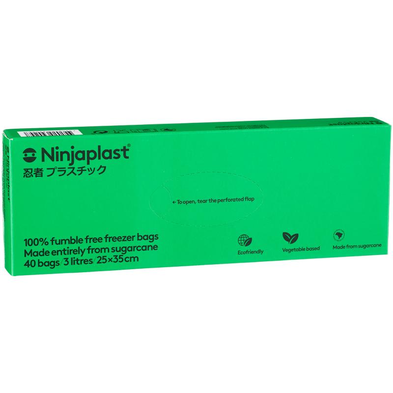 Ninjaplast Fryspåsar Fossilfria 40-pack 3 Liter - 44% rabatt