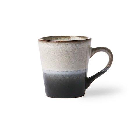 70's Espressokopp Svart og Hvit 80 ml