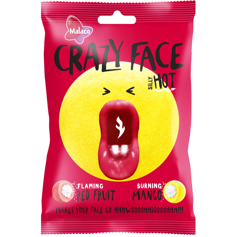 "Godis ""Crazy Face"" 80g - 54% rabatt"