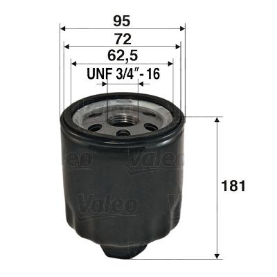 Öljynsuodatin VALEO 586056