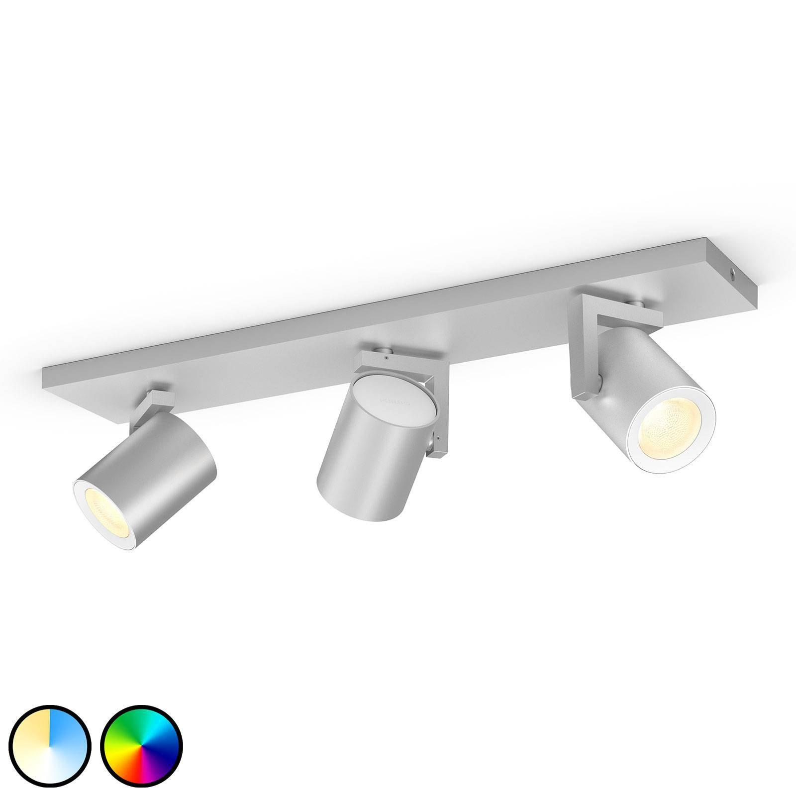 Philips Hue Argenta LED-spot tre lyskilder alu