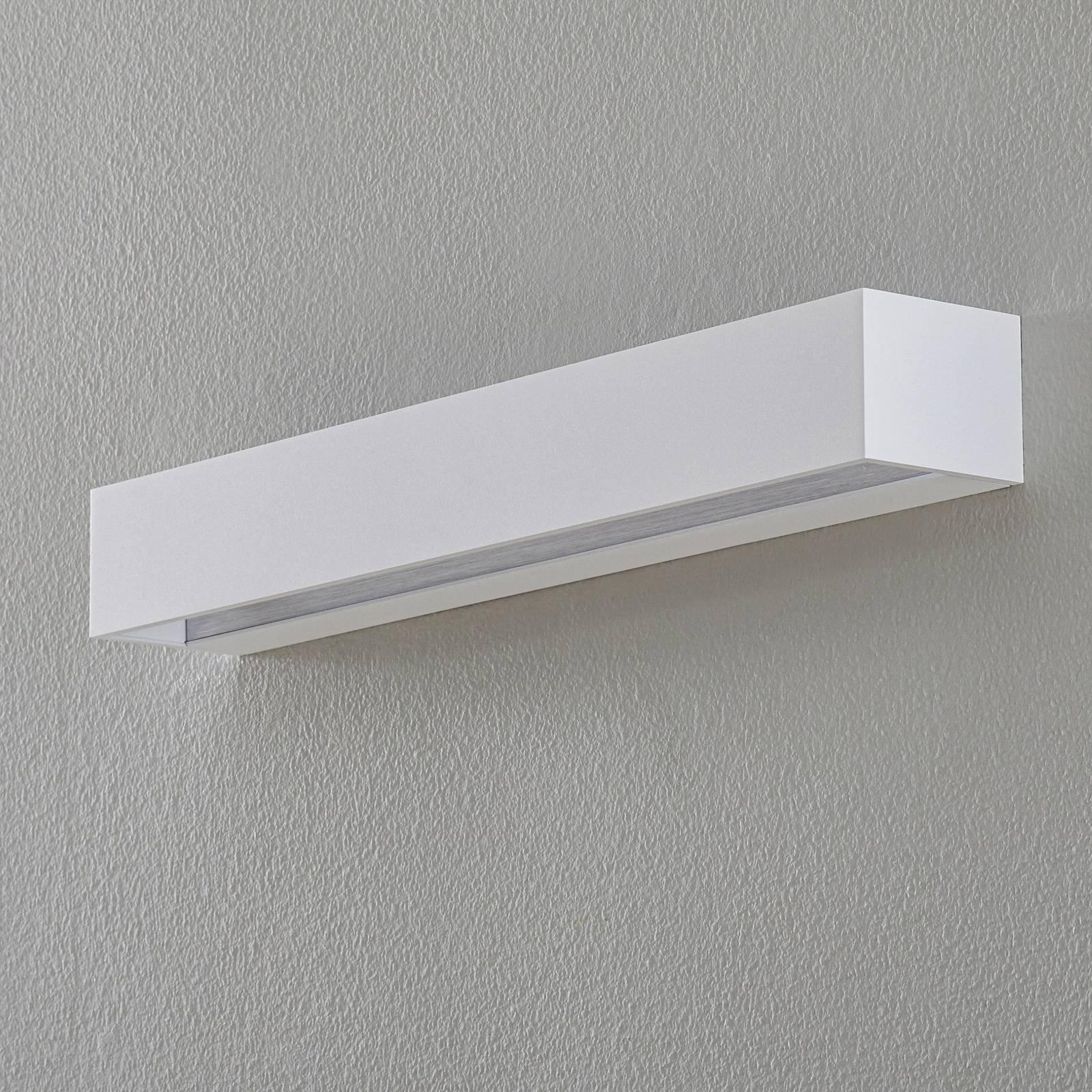 BEGA Studio Line vegglampe bred hvit/alu 50 cm