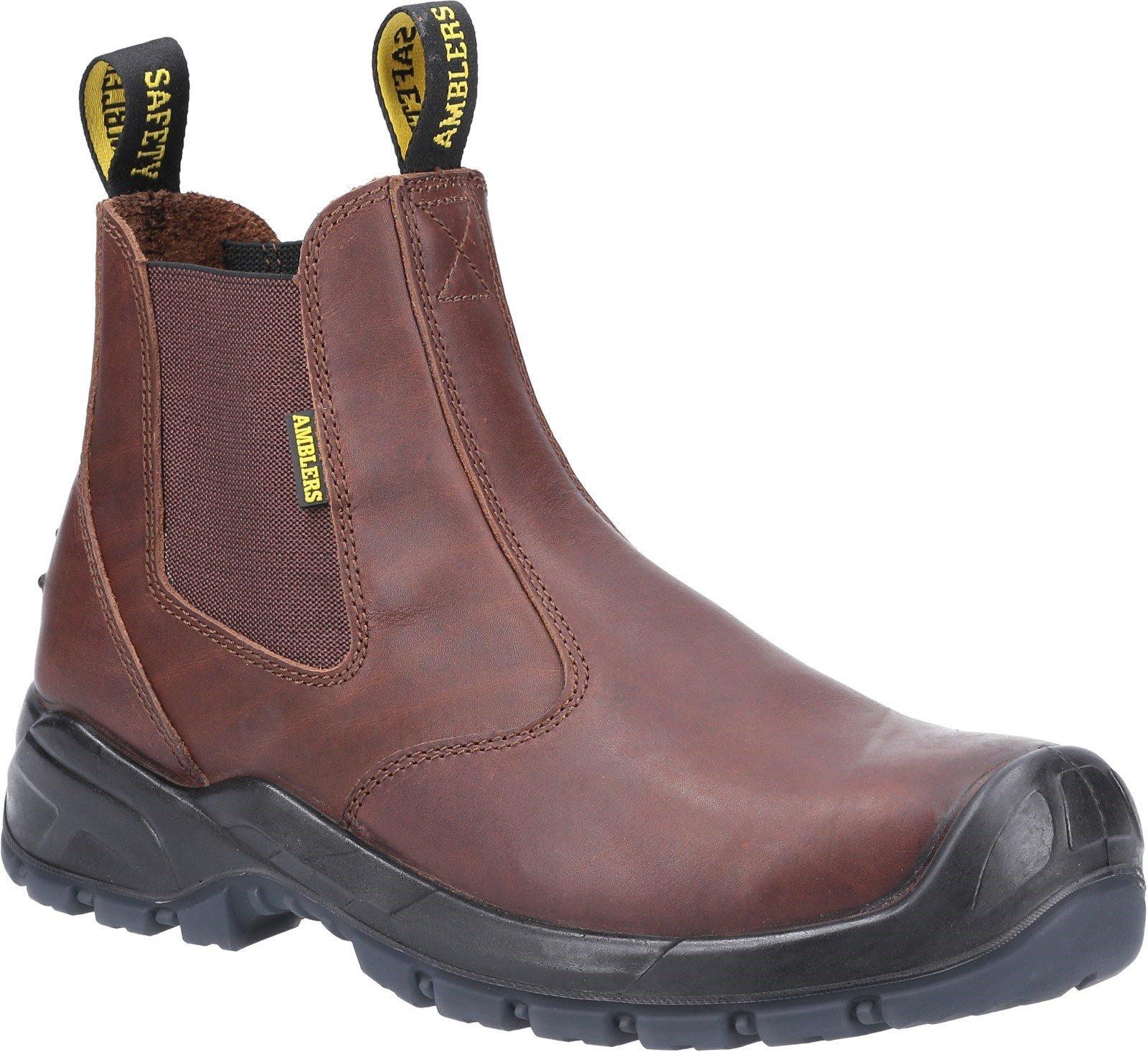 Amblers Safety Unisex Dealer Boot Brown 31378 - Brown 8