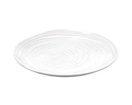 Boulogne tallerken flat hvit, Ø 21 cm