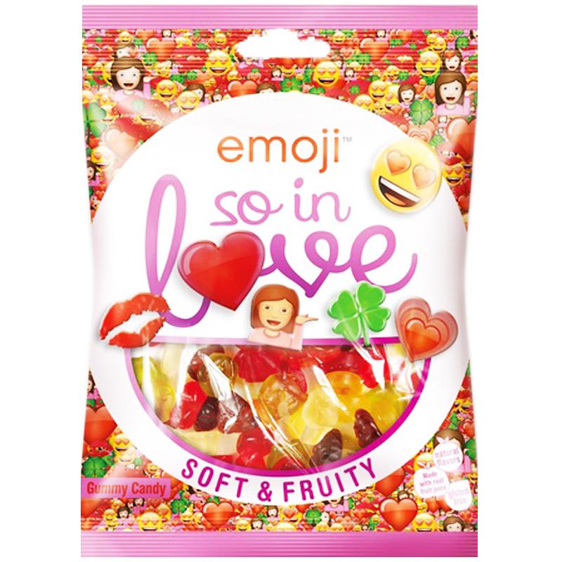 "Godis ""Emoji So In Love"" 175g - 30% rabatt"