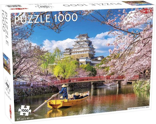 Tactic Puslespill Cherry Blossoms in Himeji 1000 brikker