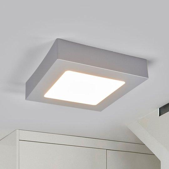 LED-kattovalo Marlo hopea 3 000 K kulmikas 18,1 cm