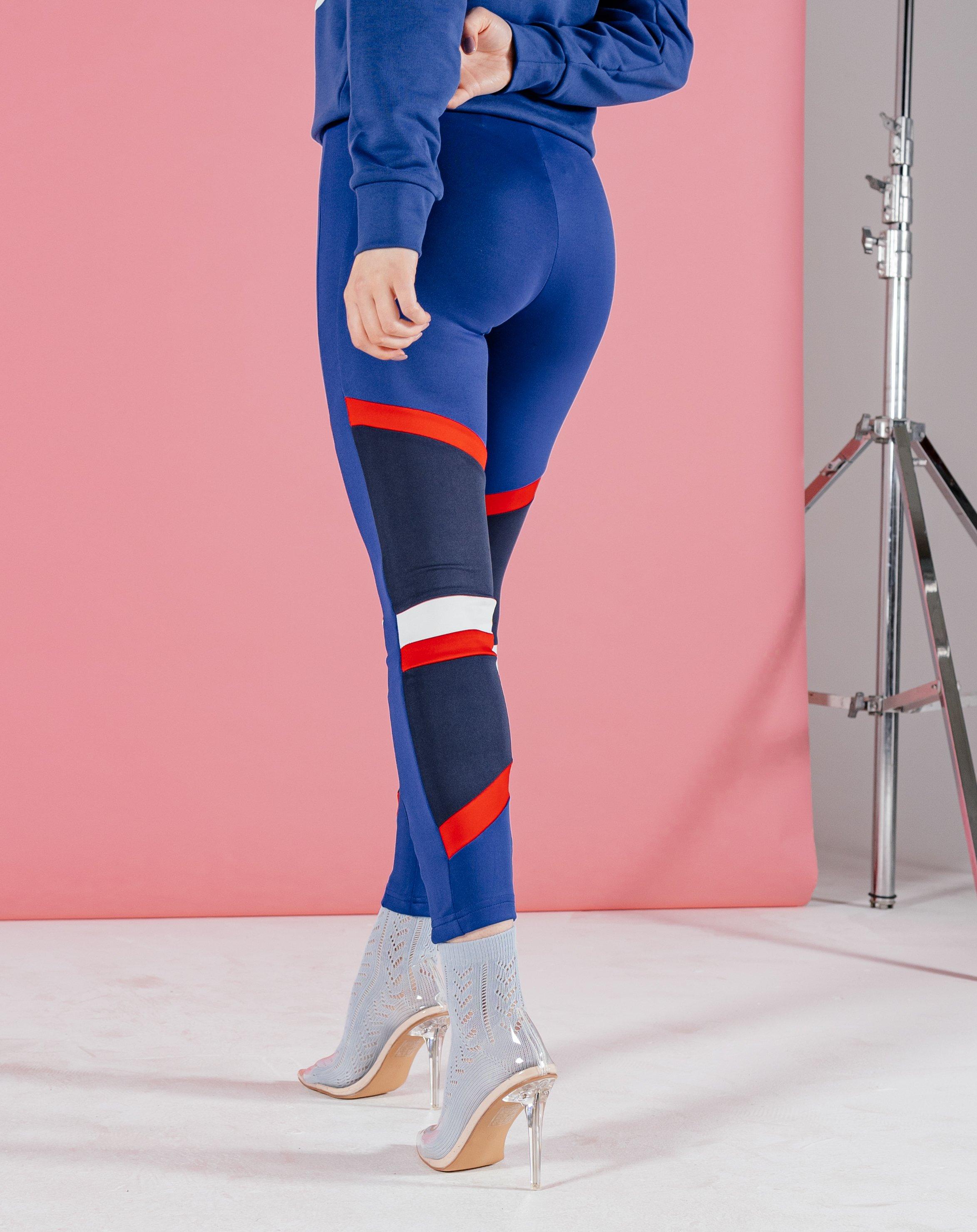 Tandil Women's Leggings With Chevron Tape - Navy / 10