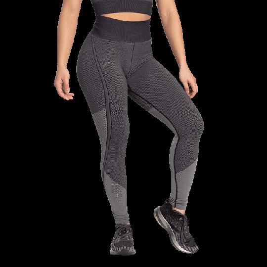 Roxy Seamless Leggings, Black/Grey