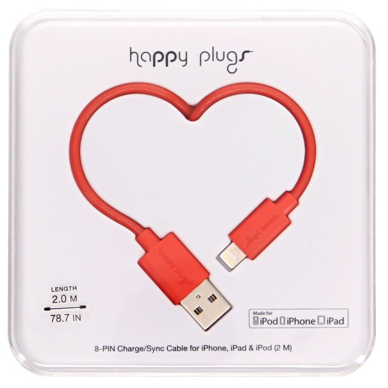 iPhone/iPad/iPod Lataus- / synkronointikaapeli Red - 72% alennus