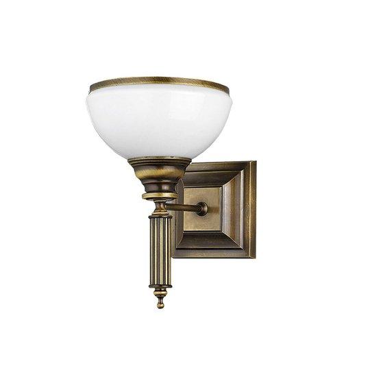 Vegglampe Petro, antikk med glasskjerm