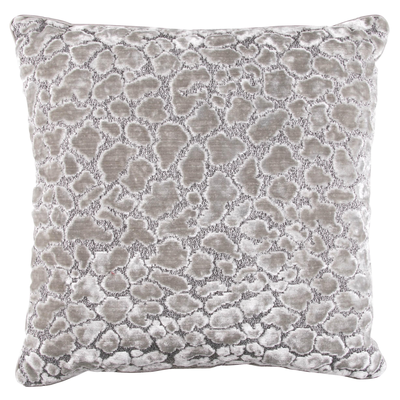 Zinc Romo I Ocelot Cushion | Silver Grey 50x50cm
