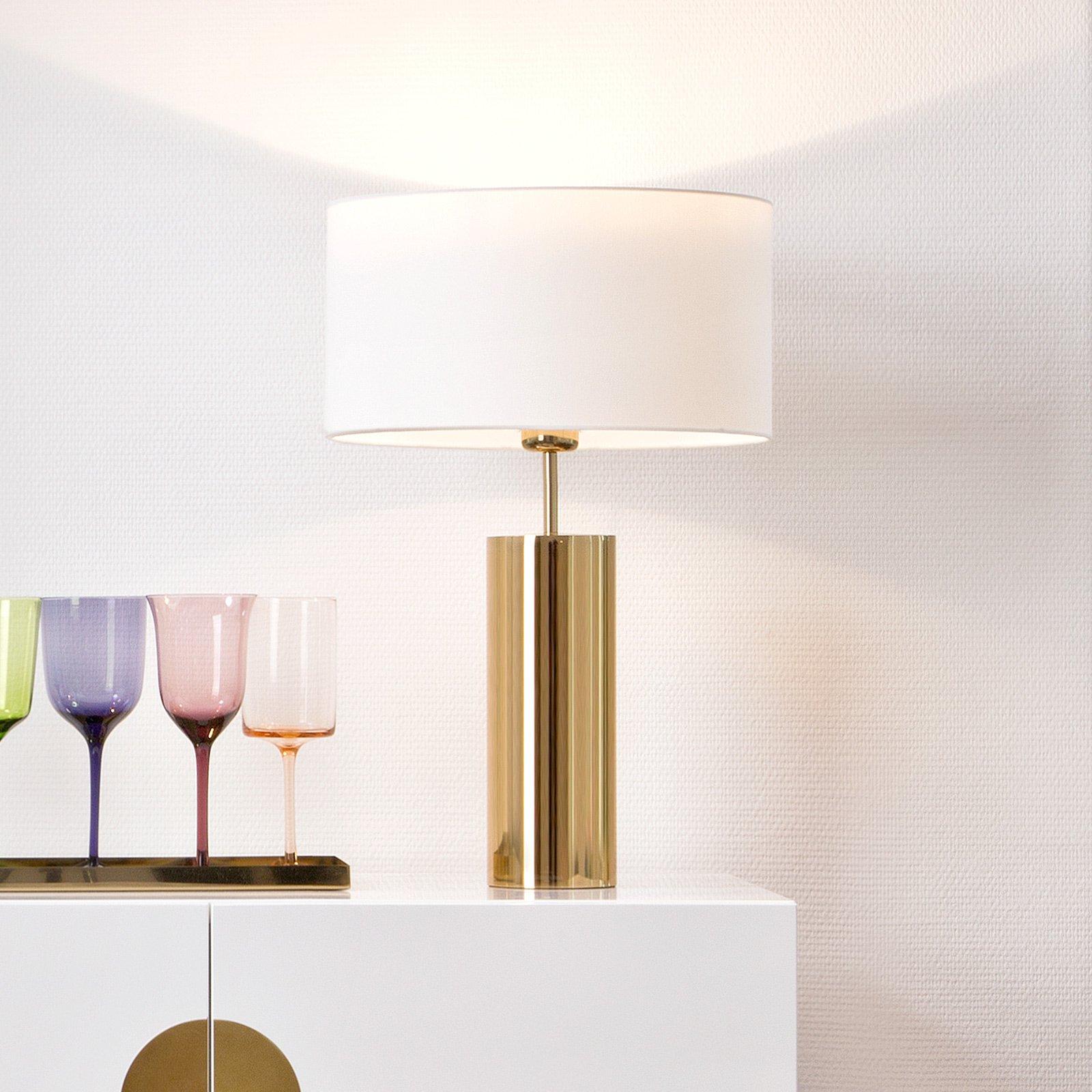 Villeroy & Boch Prag - bordlampe med hvit skjerm