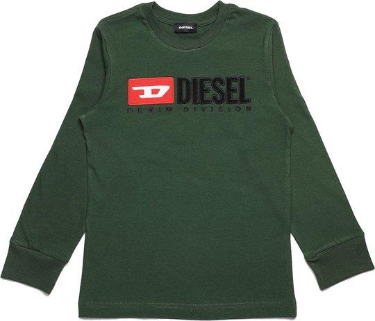 Diesel Tjustdivision Ml T-Shirt, Dark Green 10 År