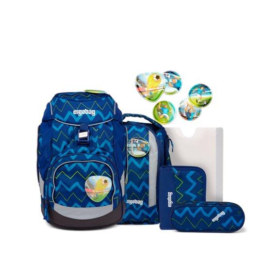 Ergobag Pack Soccer FanBear Skolepakke 20L, Dark Blue Zigzag