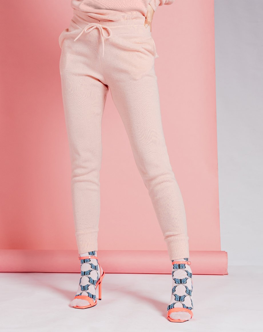Auriel Knitted Lounge Bottoms - Pink / 8