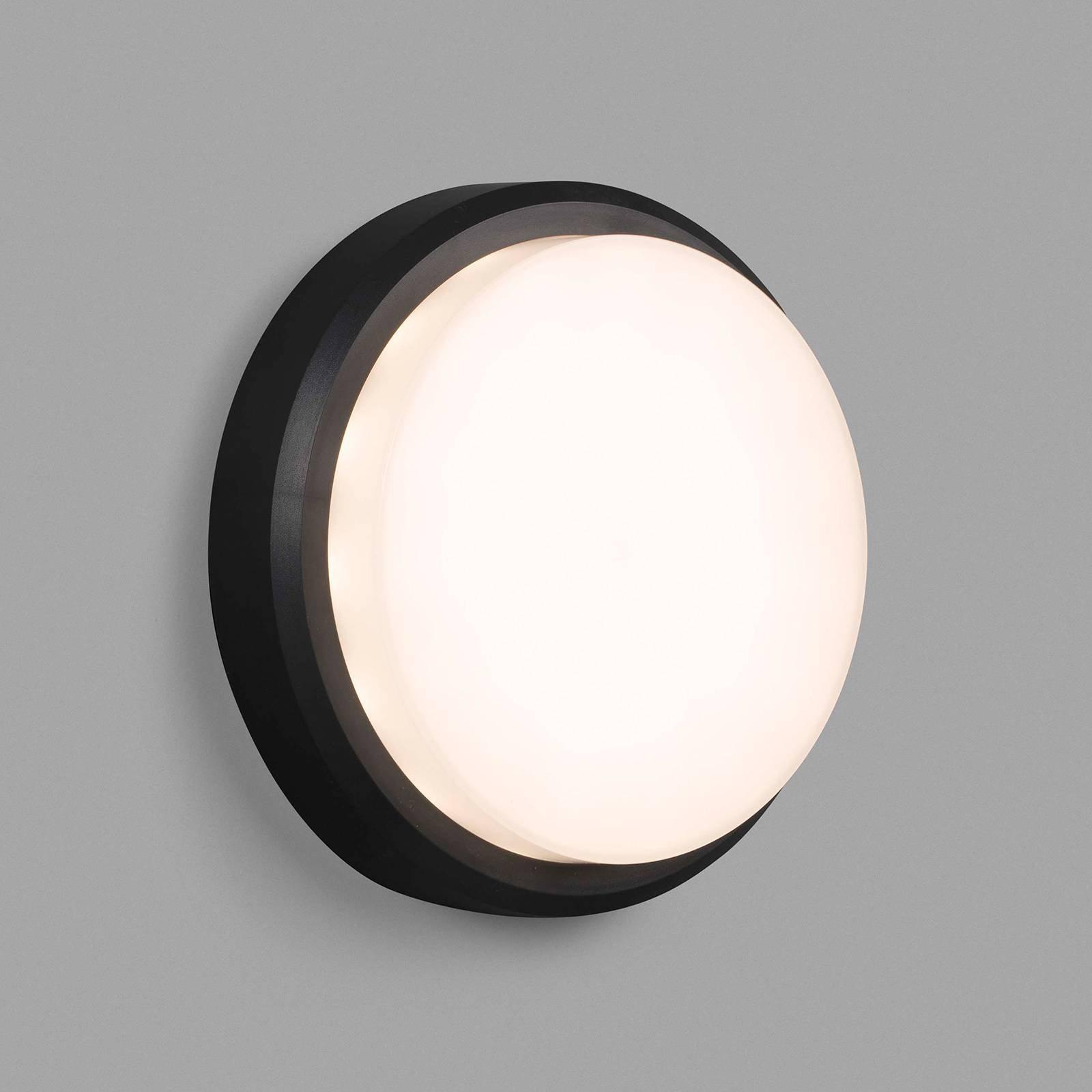 Utendørs LED-vegglampe Tom XL, IK10, mørkegrå/hvit