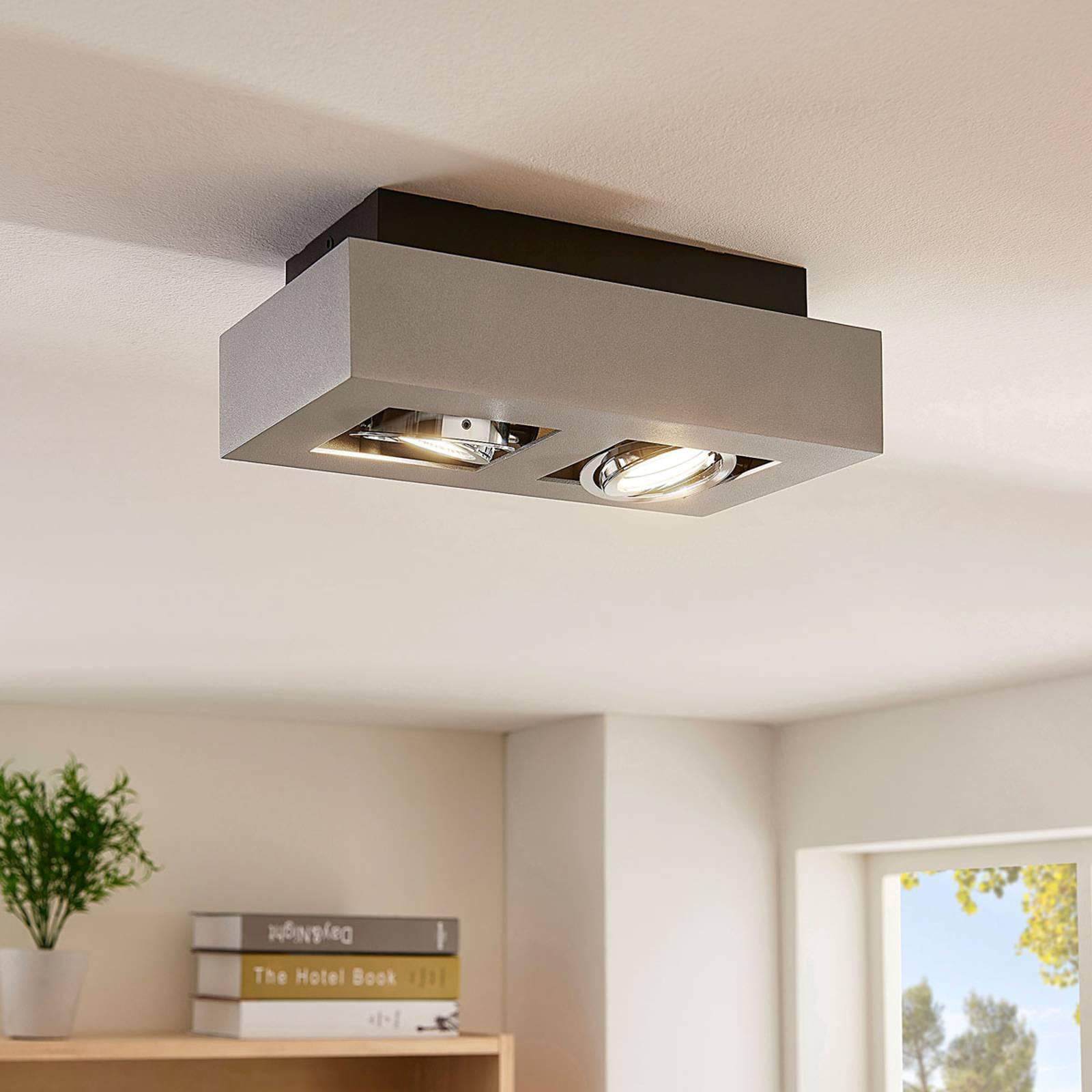 2-lamppuinen LED-kattovalaisin Vince