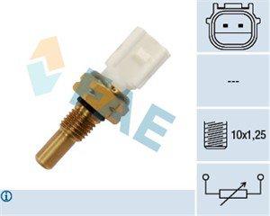 Sensor, kylvätsketemperatur, Framför kylaren