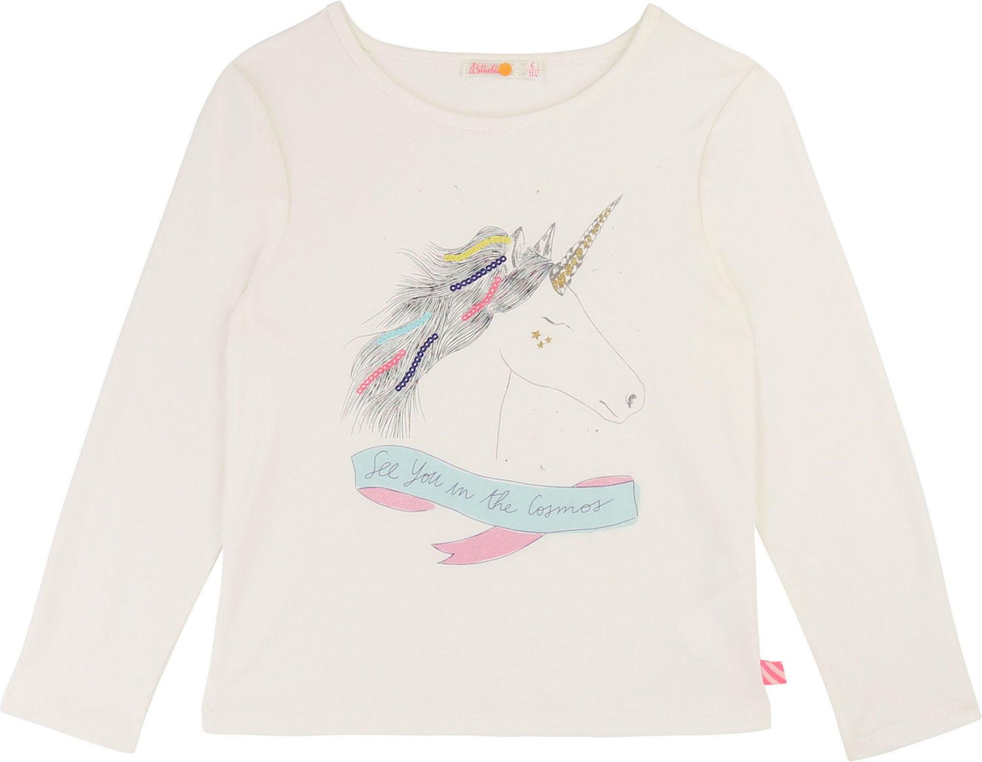 Billieblush T-Shirt, Ivory 3 år