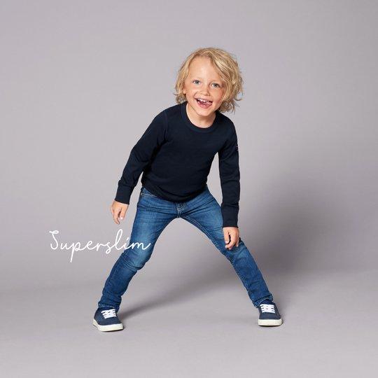 Jeans super slim stretch blå