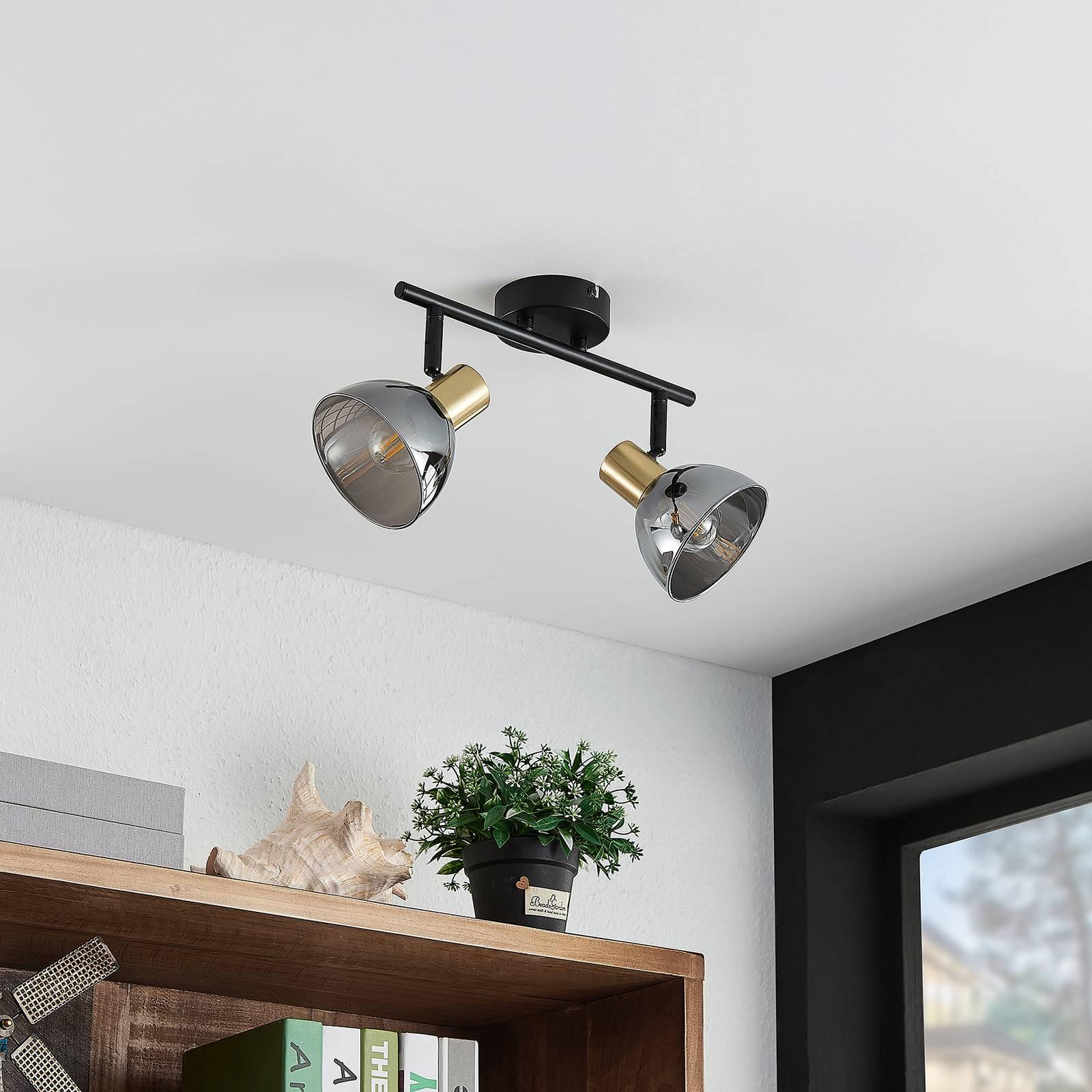 Lindby Aniol -kattokohdevalo, 2-lamppuinen