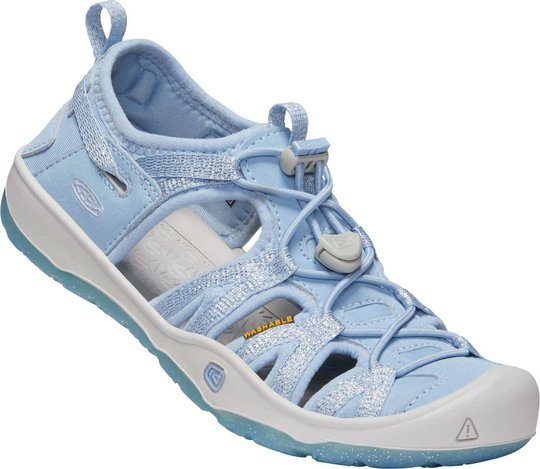 KEEN Moxie Sandal, Powder Blue/Vapor, 32-33