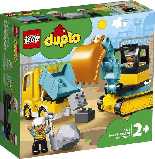LEGO DUPLO Town 10931 Lastebil og Beltegravemaskin