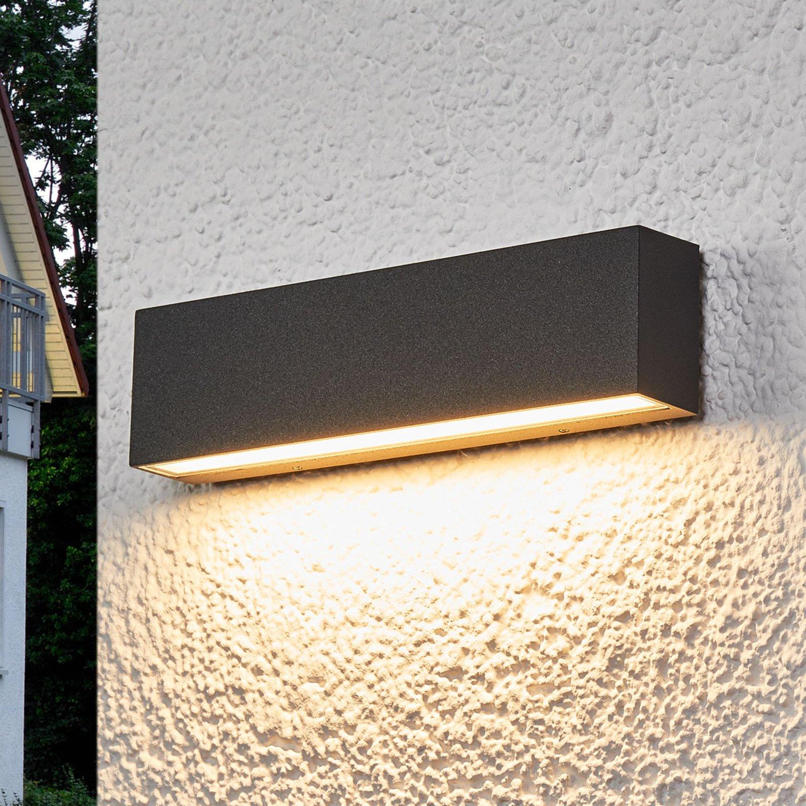 Elvira - grafittgrå LED-utevegglampe med IP65