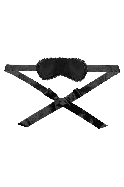 Kiss Me Deadly x Playful Promises Schall Eye Mask / Cuffs / Bag Black Set One Size