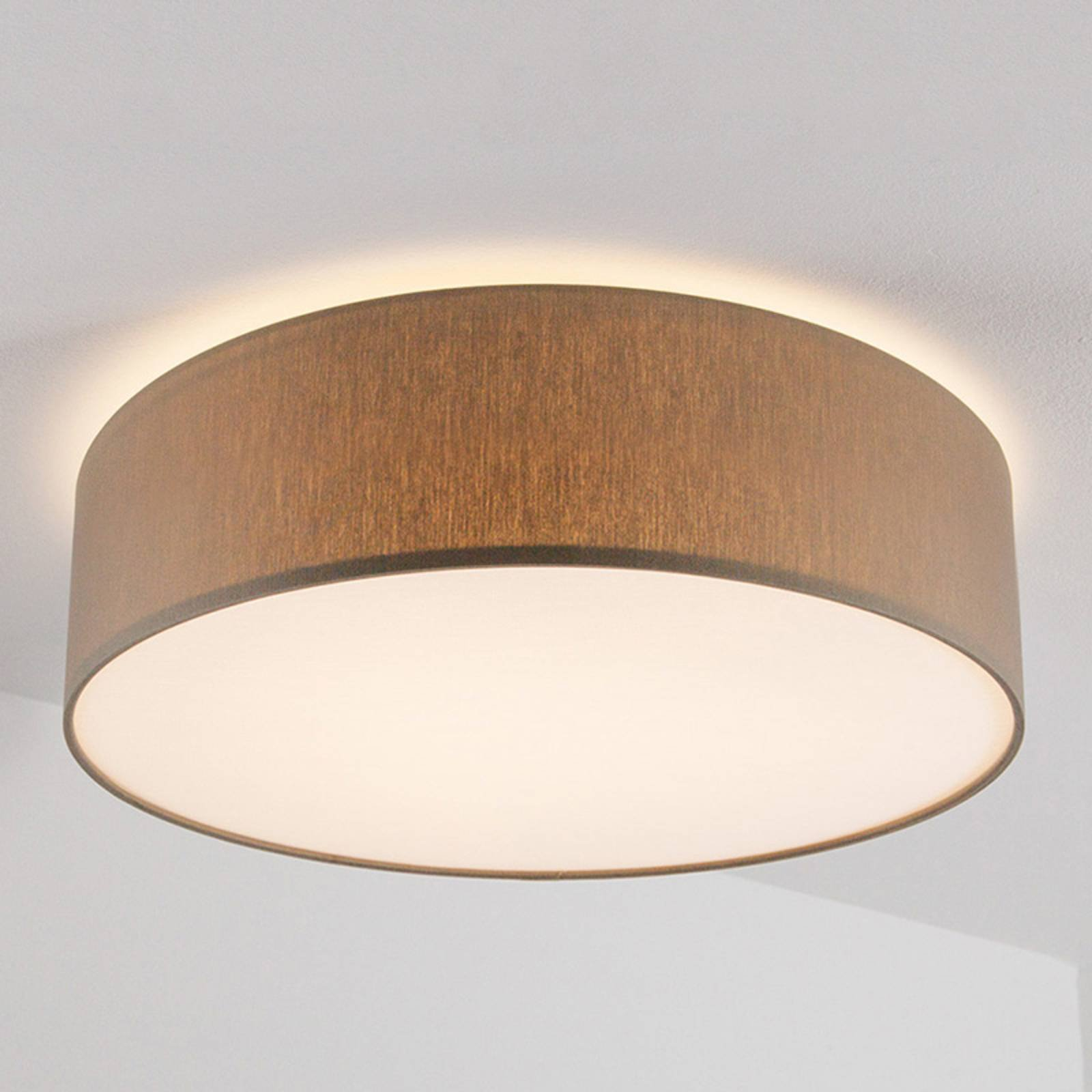 Gråbrun taklampe Mara, 60 cm