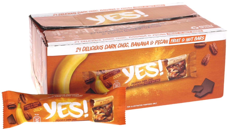 Välipalapatukat Banaani, Pekaanipähkinä & Tumma Suklaa 24kpl - 60% alennus