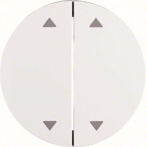 """Hager 16442089 Vipu malleihin R.1 ja R.3 Kaksiosainen vipu, valkoinen, symboli """"nuolet"""""""