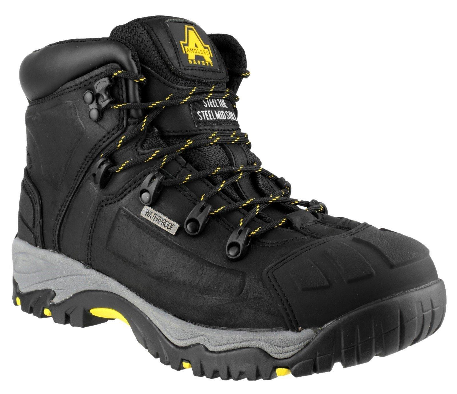 Amblers Unisex Safety Waterproof Boot Black 24876 - Black 3
