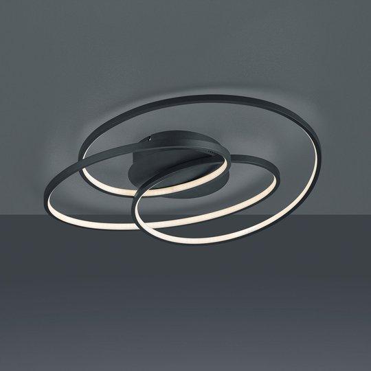LED-taklampe Gale, 60 cm, matt svart