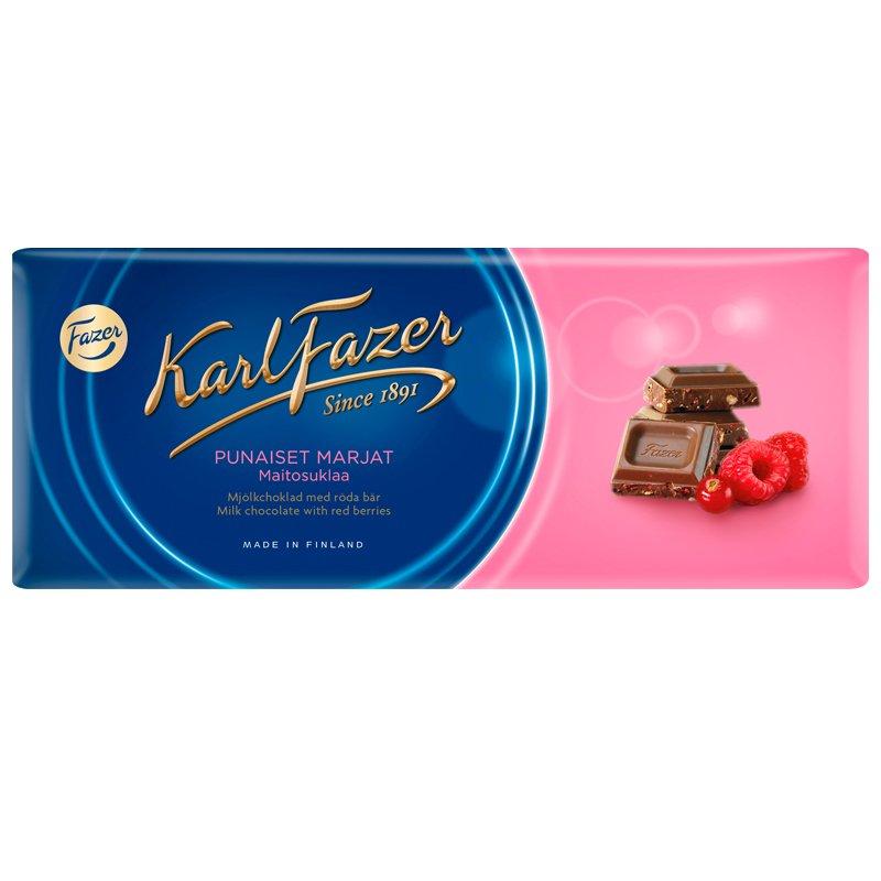 """Mjölkchoklad """"Röda Bär"""" 190g - 25% rabatt"""