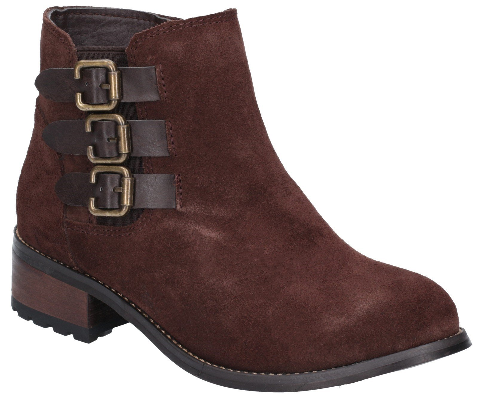 Divaz Women's Lexi Slip On Buckle Boot Black 27162-45641 - Brown 3