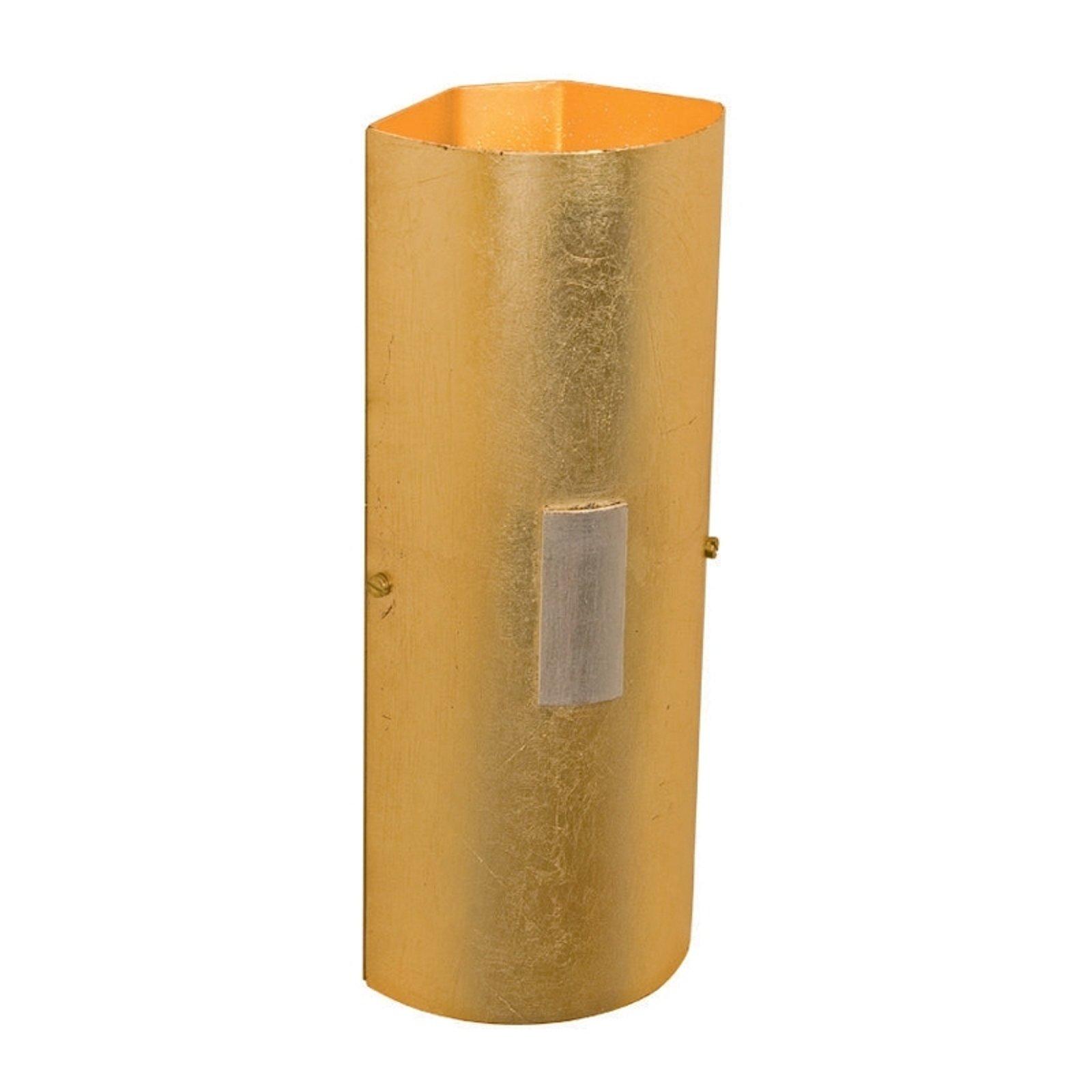 Hjørnevegglampe SOLO i gull