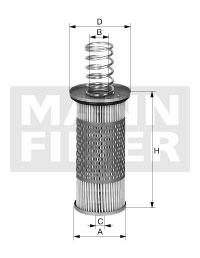 Hydrauliikkasuodatin, automaattivaihteisto MANN-FILTER HD 1053