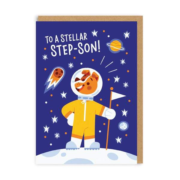Stellar Step-Son Greeting Card