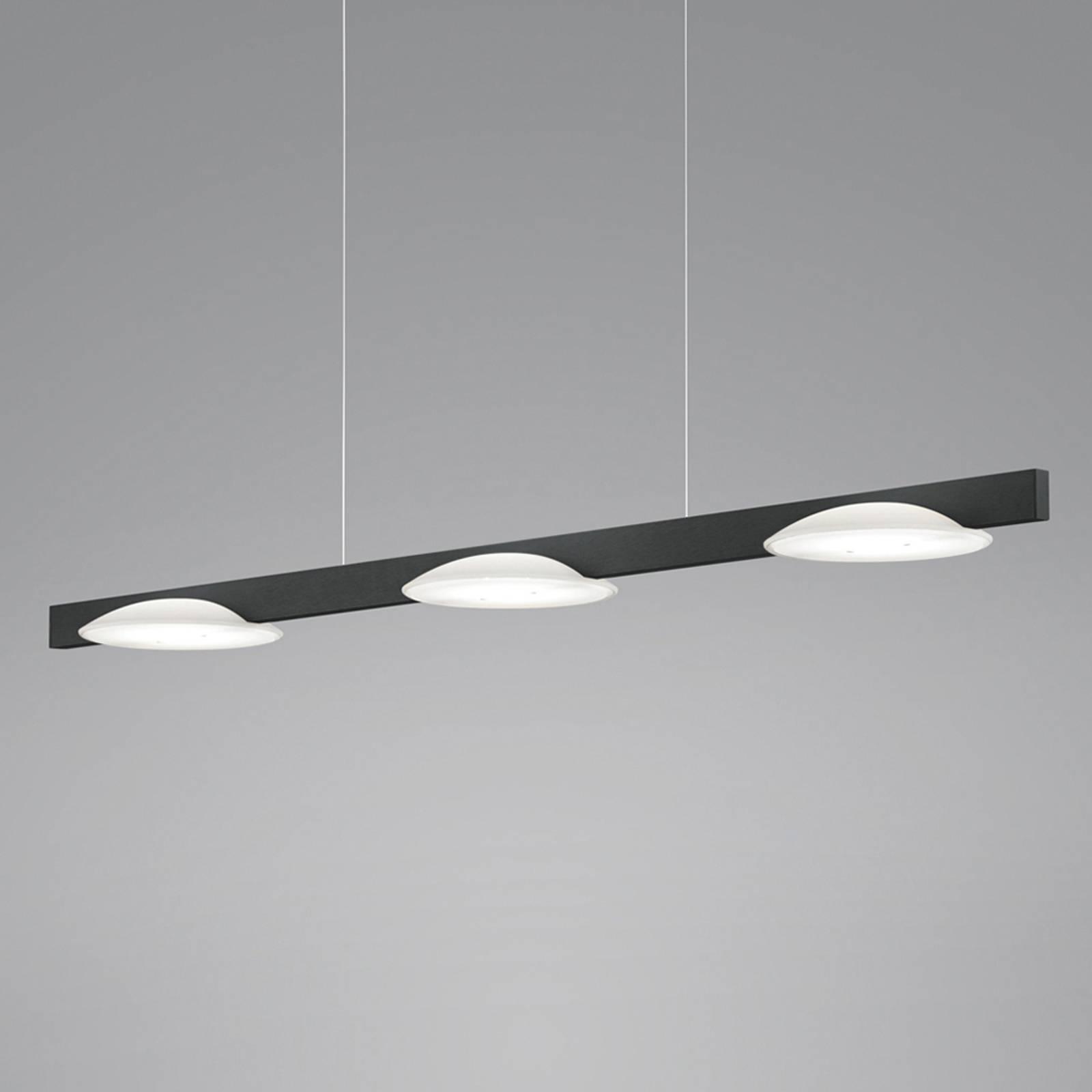 Helestra Pole -LED-riippuvalaisin 3-lamp. musta
