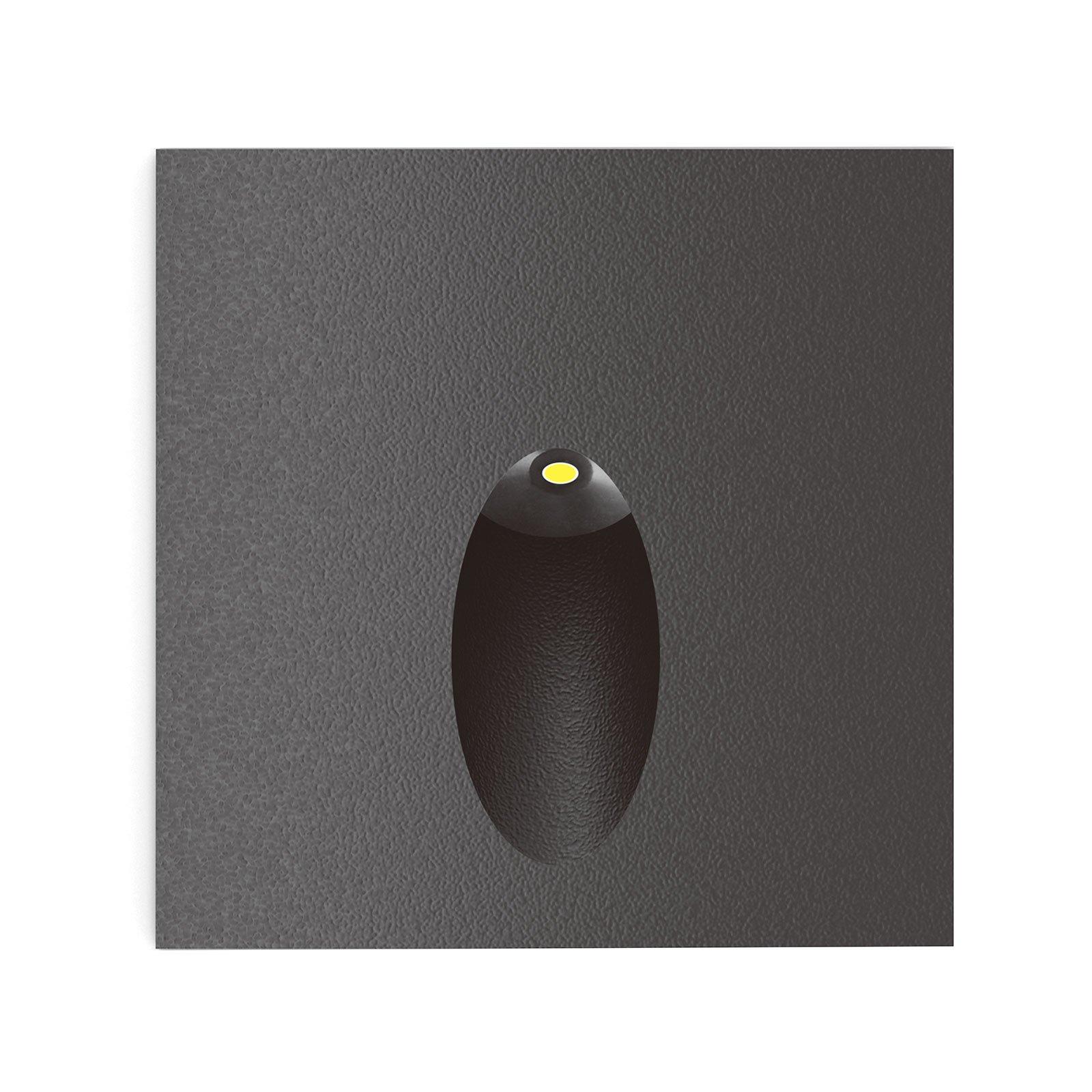 Lucande Finnleya LED innfelt vegglampe, kantet