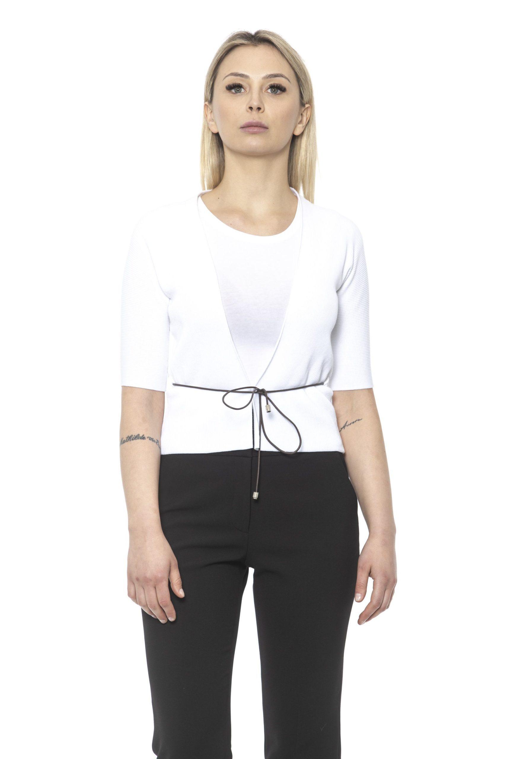 Peserico Women's Bianco Sweater White PE1426911 - IT42 | S
