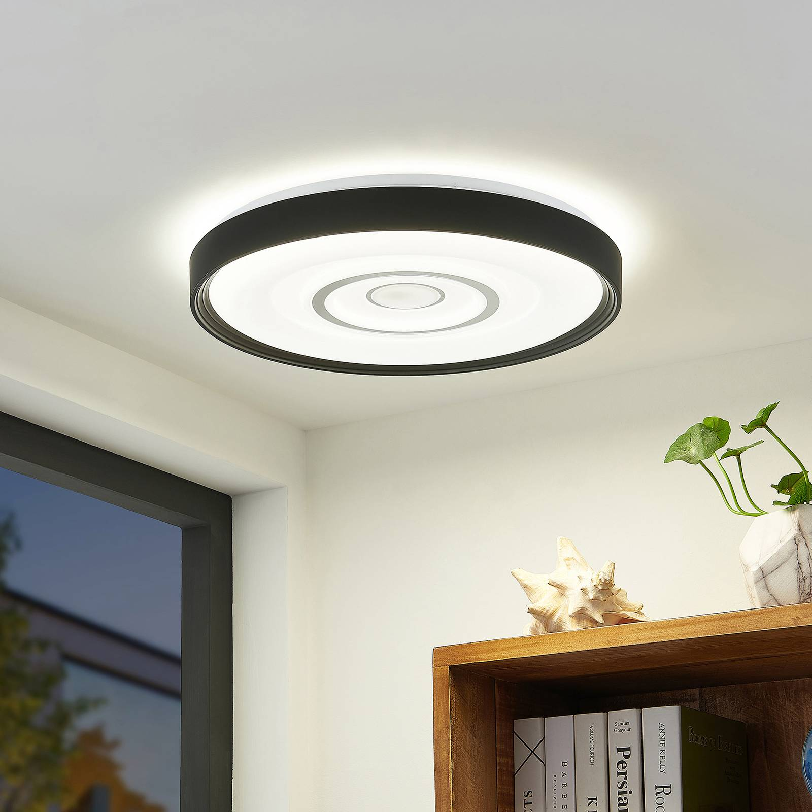 Lindby Pikanum -LED-kattovalaisin, CCT, himmennys