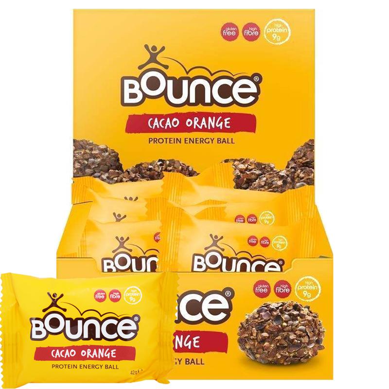 "Hel Låda ""Energy Balls Cacao Orange"" 12 x 40g - 54% rabatt"