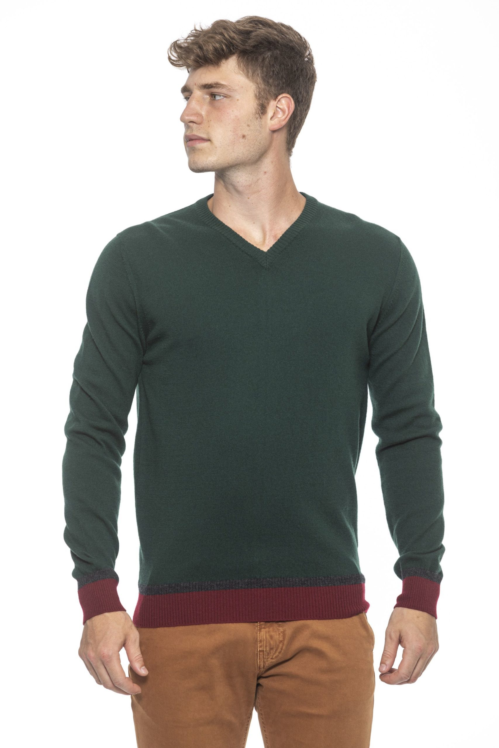 Alpha Studio Men's Bottiglia Sweater Green AL1192037 - IT50   L