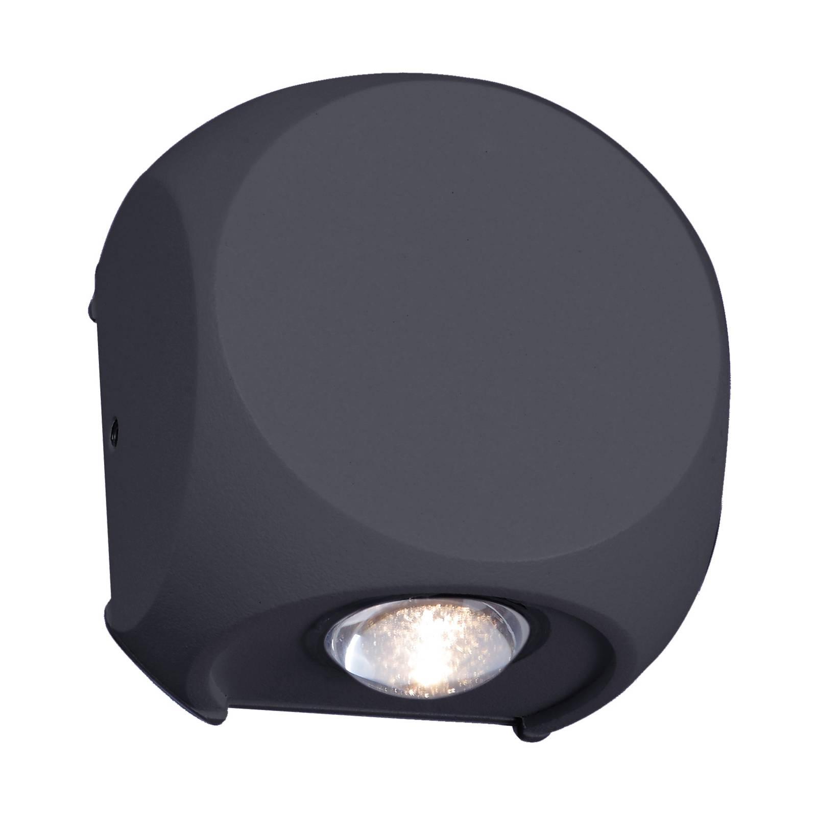 Lindby Esmani -LED-seinävalo 2-lamppuinen harmaa