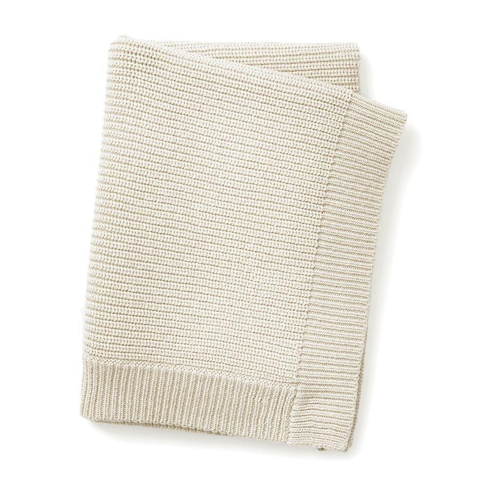Elodie Details - Wool Knitted Blanket - Vanilla White